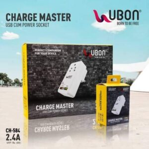 ubon ch-584 2.4a mobile chager cum power socket mobile charger