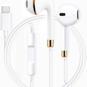 Meyaar Ui-1134 USB Type C Earbuds   Login Series in Ear Wired Headphones with Microphone Remote   for Note 10/10 Plus, S20, 6t,7,7pro, 8 Pro -White (Type-C Basic)