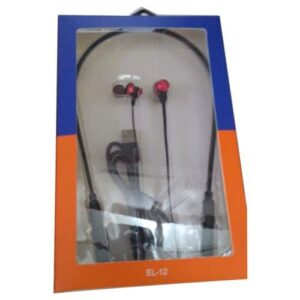 Electroline Black and Red Neckband Wireless
